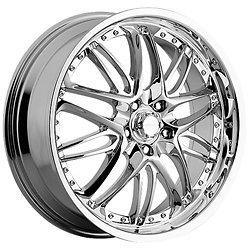 20 Inch Menzari Z01 Chrome Wheels Rims 5x112 +45