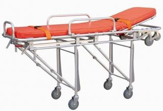 Ambulance Stretcher Belt Foldable Wheels Portable Equipment Emergency
