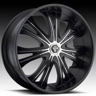 26 DUB 26x9.5 Black Mamba Matte Black Wheel & TIRE Package 26inch