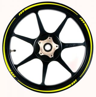 YELLOW Wheel Rim Tape SPEED TAPERED Stripe fit ALL Makes of Motorcycle