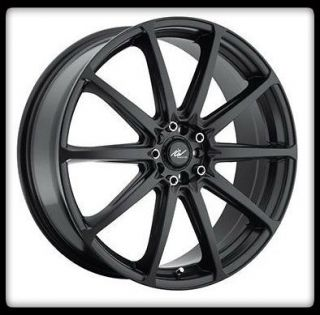 RACING 215B BANSHEE 5X100 5X4.25 CALIBER CIVIC GLOSS BLACK WHEEL RIMS