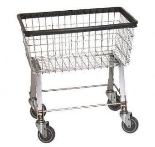 Laundry Cart 2.5 Bushel on wheels w Basket Heavy Duty