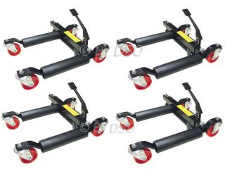 12 inch 1500lb Hydraulic Vehicle Lifting/Moving Dolly Jack Set of 4