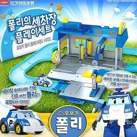 ROBOCAR POLI] Car Wash Play Set mud Poli Included