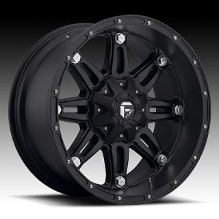 18 FUEL HOSTAGE BLACK RIMS & 35X12.50X18 NITTO TRAIL GRAPPLER WHEELS