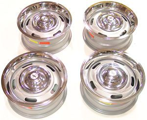 67 68 69 Camaro Corvette Nova Rally wheel kit 15x6 w/Disc caps & GM