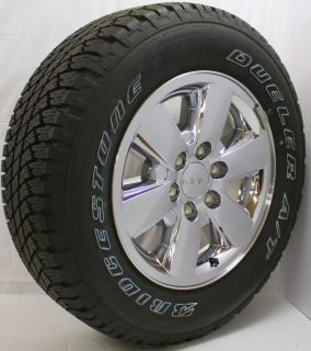 2013 GMC Sierra Yukon 18 Z71 Chrome Wheels Rims Bridgestone Owl Tires