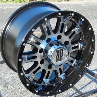 17 Black Machined XD Hoss Wheels Rims Chevy Tahoe Suburban GMC Sierra