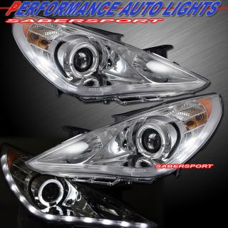 Halo Rim Projector Headlights w LED Parking Lights for 2011 2013