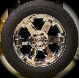 Ram Chrome 20 Factory OEM Wheels Rims Tires FREE SHIPPING 2002 2013