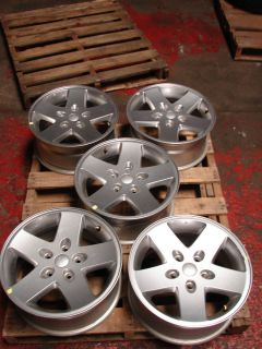 17 Jeep Wrangler 5 Spoke Wheel Wheels Rims Alloys
