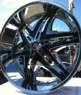 24 Diablo Elite Rims Tires Armada Infinity QX56 Titan Tahoe Escalade