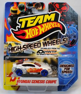 Hot Wheels 2012 Team Hyundai Genesis Coupe Blue Wheels