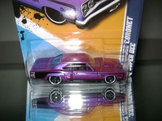 HOT WHEELS 2012 69 PLUM DODGE CORONET SUPER BEE MUSCLE MANIA MOPAR #4
