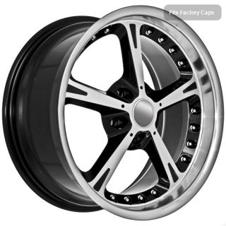 18 black wheels rims fit 2010 BMW 5 M5 6 2010 M6 7 8 Series 525 540