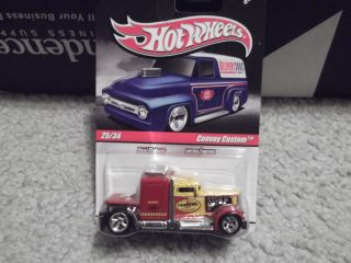 2010 Hot Wheels Delivery Convoy Custom Truck Red Chase Super