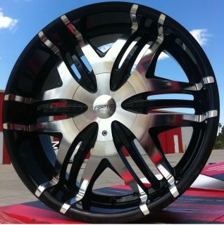 WHEELS RIMS TIRES FW40 BLACK MACHINED 5X120 CHEVROLET CAMARO 2009