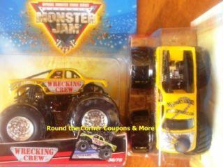 Hotwheels 2009 Monster Jam 36 Wrecking Crew Truck 1 64