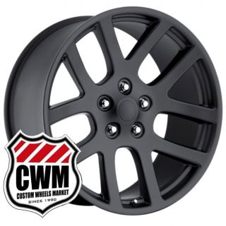 SRT 10 Matte Black Replica Wheels Rims Fit RAM 1500 2002 2011