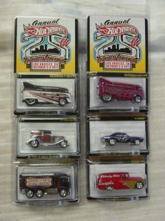 2011 Hot Wheels 25th Convention Set of SIX cars 6 VW Camaro Panel
