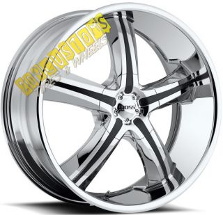 BOSS WHEELS 334 RIMS TIRES CHROME DODGE NITRO 2007 2008 2009 2010 2011