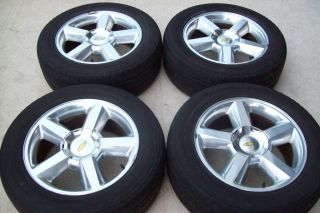 2007 2012 20 Chevy Tahoe LTZ Silverado Polished Wheels Tires