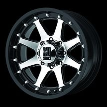 17 inch Jeep Wrangler JK Black Mach Rims Wheels 2007 2011 18mm