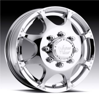 715 CRAZY EIGHTZ CHROME FORD F 250 F 350 DUALLY 1999 2007 WHEELS RIMS