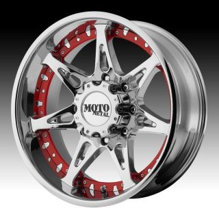 20 inch 20x9 Moto Metal Chrome Wheels Rims 6x5 5 6x139 7 18 Nissan