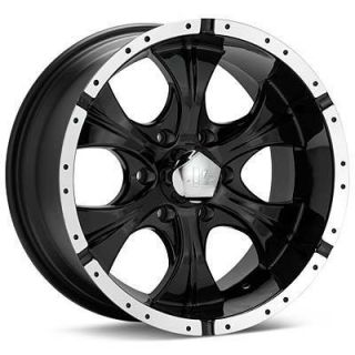 17 inch Black Wheels Rims 17x9 5x5 5x127 Jeep Wrangler JK