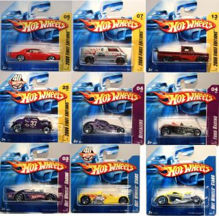 RARE 2008 Hot Wheels HW Hot Rod Custom Track Racing Stars First