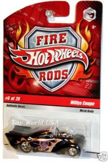 Hot Wheels 2009 Fire Rods 6 Willys Coupe