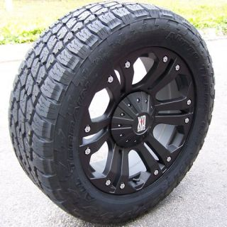 20 MONSTER WHEELS NITTO TERRA GRAPPLER TIRES 6X5 5 6X135 FORD F150 GMC