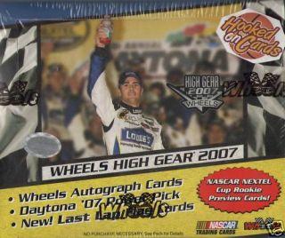 2007 Wheels High Gear Racing NASCAR Hobby Box