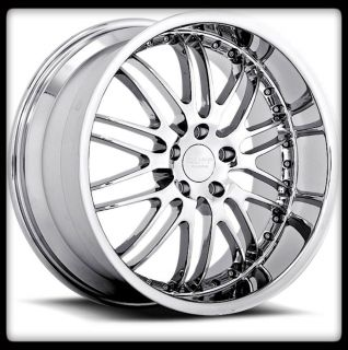 20x8 5 20 RUFF RACING R281 CHROME CAMARO MUSTANG STAGGERED WHEELS RIMS