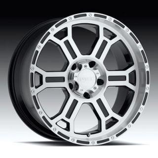 Black Machined V Tec Raptor Wheels Rims 5 Lug 18x9 2007 Tundra