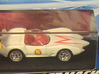 SPEED RACER DIE CAST MACH 5 HAS 2 PIECE WHEELS DISPLAY CASE 2008 HTF