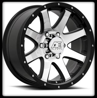 AMERICAN EAGLE 015 BLACK MACHINED F 150 RAM 5X5 5 5X139 7 WHEELS RIMS