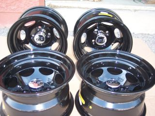 12 XB40 Black Aluminum Golf Cart Wheels Caps Chrome Lugs Included Set