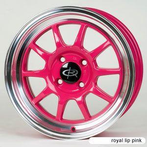 16 Rota GT3 Pink Rims Wheels 16x7 40 4x100 Mini Cooper Civic Fit