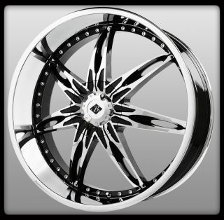 24 x 9 5 Black Ice VB10 Nocturno Black Chrome Range Rover Escalade
