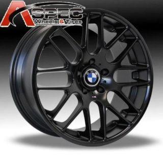 19 CSL Staggered BMW 325i 328i 335xi Matt Black Wheels