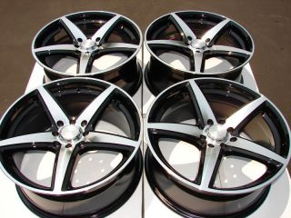 4x100 Wheels Black Jetta Golf Passat Tiburon Integra Neon 4 Lug Rims