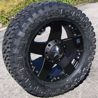 20 Black XD Rockstar Wheels 35 Nitto Trail Grappler Ford F150 Chevy