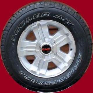 2007 2012 GMC Sierra Yukon 18 Z71 Wheels with Bridgestone P265 65R18