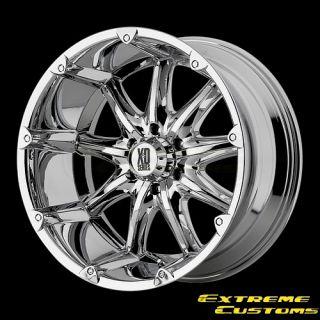 XD Series XD779 Badlands Chrome 5 6 8 Lug Wheels Rims Free Lugs