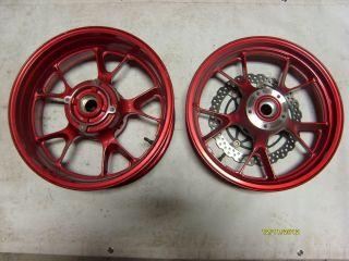06 07 08 09 10 11 Kawasaki ZX 14 Factory Front Rear Wheels Rims