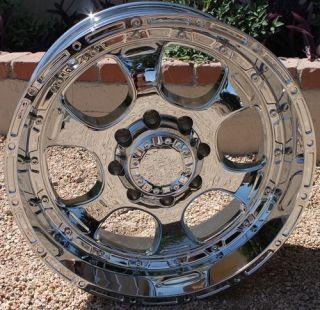 20 Inch CHROME HE842 RIMS 8 lug Wheels Silverado Ram GMC Sierra Truck