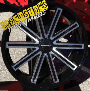 Wheels Tires Rims 5x120 KMC Rebel Chevy Camaro SS 2010 2011 2012 13