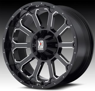 20 X 9 KMC XD806 BOMB RIMS W/ 35X12.50X20 TOYO OPEN COUNTRY MT TIRES